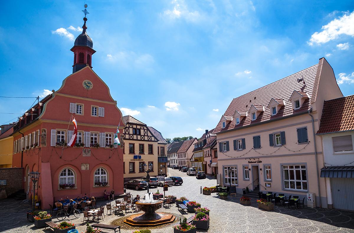 Blick aus der Wohngemeinschaft in Gau-Algesheim
